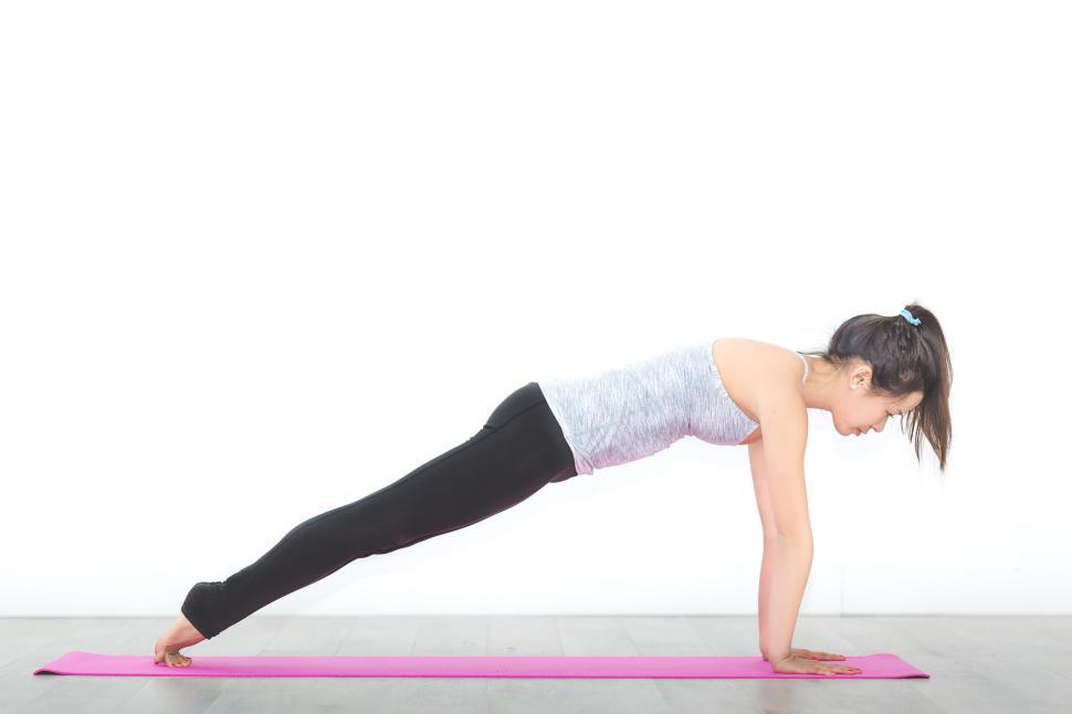 Download Free Stock HD Photo of High Plank Core Pose Online
