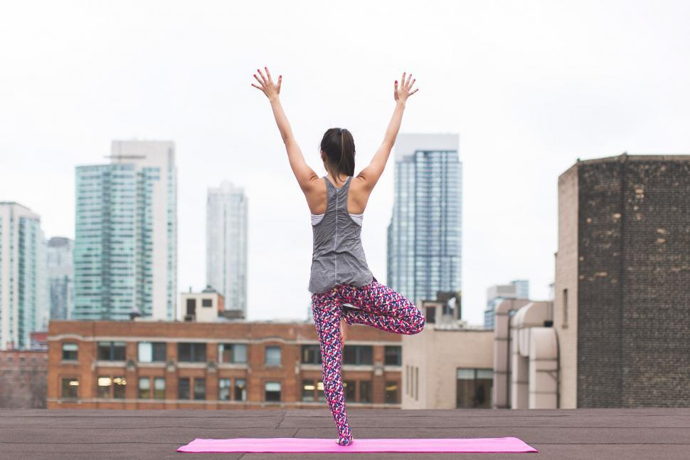 Download Free Stock HD Photo of Tree Pose Yoga Online