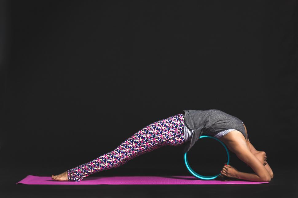 Download Free Stock HD Photo of Yoga Backbend Wheel Online