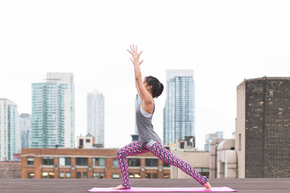 Download Free Stock HD Photo of Yoga Crescent Lunge Online