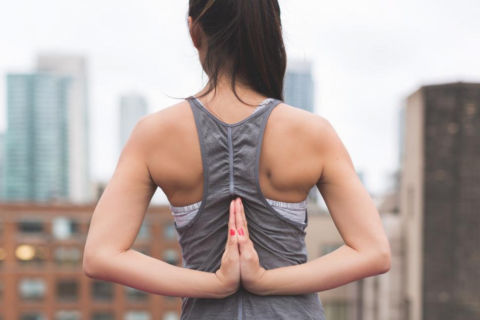 Download Free Stock HD Photo of Yoga Prayer Pose Online