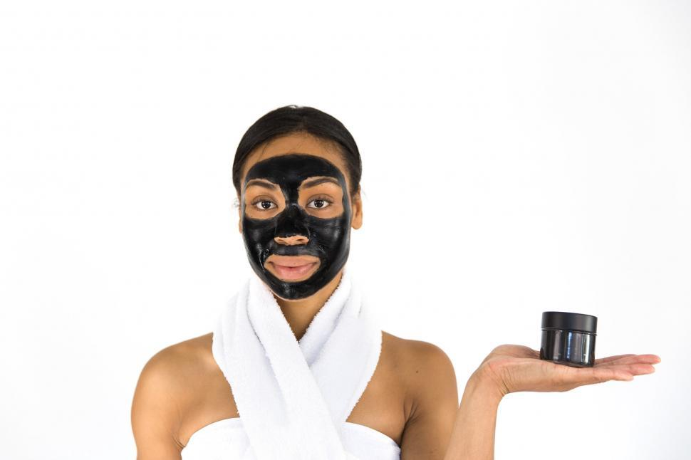 Download Free Stock HD Photo of Activated Charcoal Face Mask Peel Off Online
