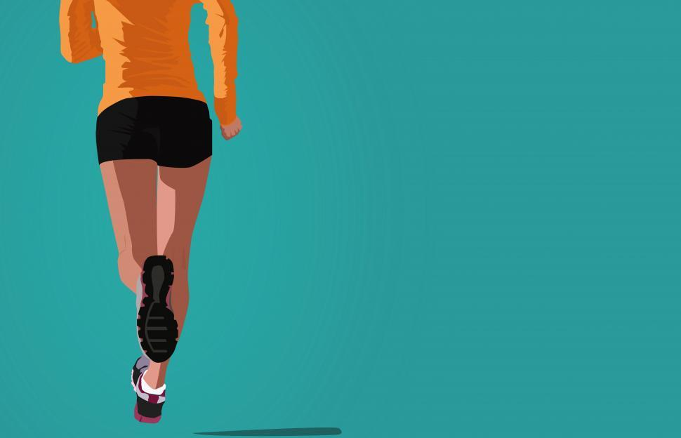 Download Free Stock HD Photo of Woman Jogging - Illustration with Copyspace Online
