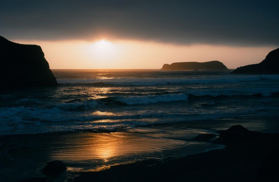 Download Free Stock HD Photo of Bandon Beach, Golden Sunset Online