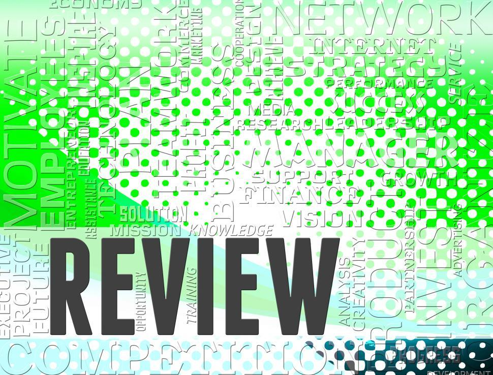 Get Free Stock Photo of Review Words Indicates Appraisal Assess And ...