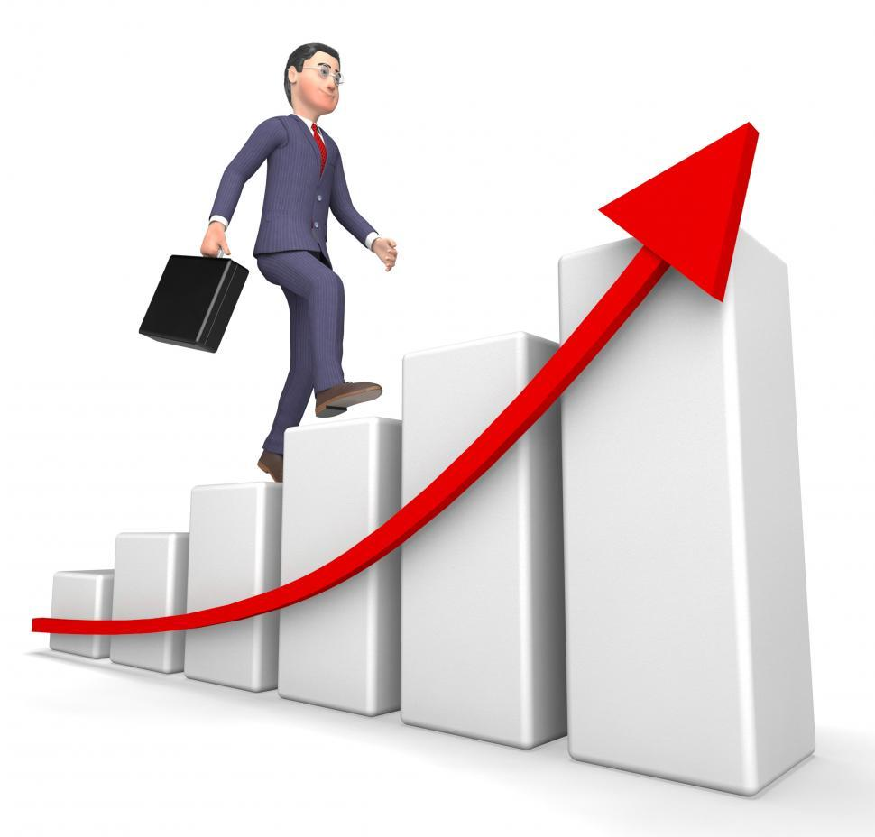 Download Free Stock HD Photo of Character Profits Shows Success Successful And Business 3d Rende Online