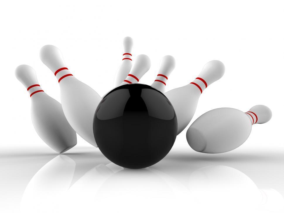 Download Free Stock HD Photo of Bowling Strike Showing Winning Skittles Game Online