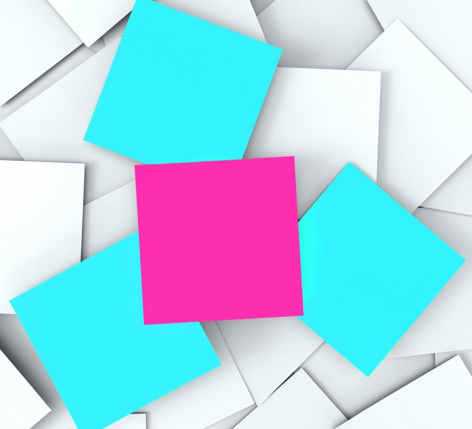 Download Free Stock HD Photo of Blank Post it Messages Shows Copyspace To Do And Note Online