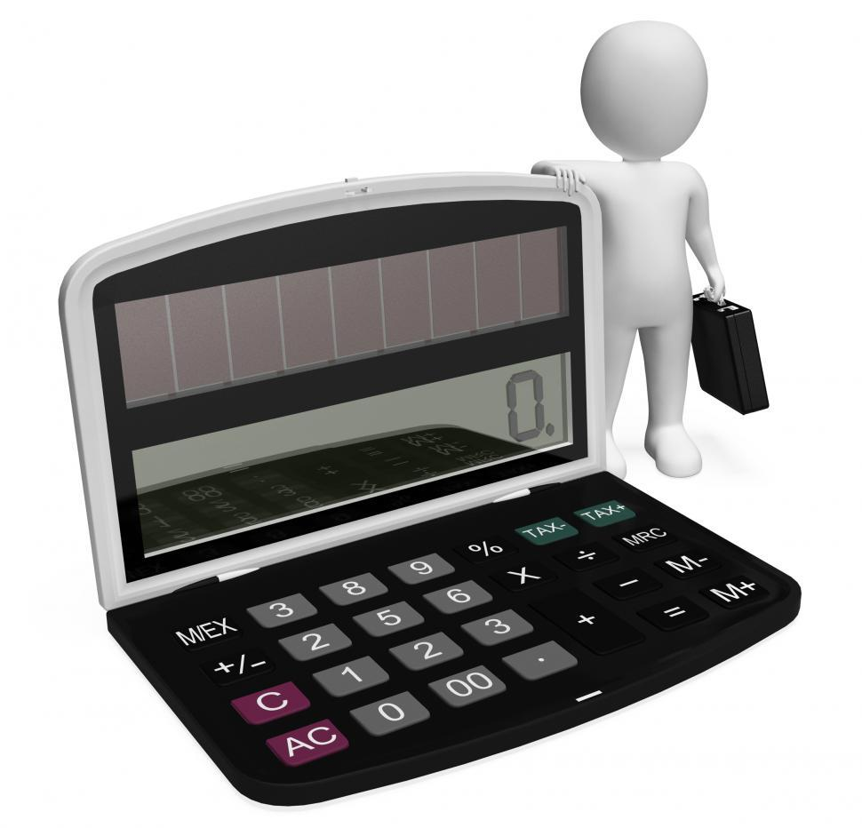 Download Free Stock HD Photo of Finance Character Shows Business Person And Illustration 3d Rend Online