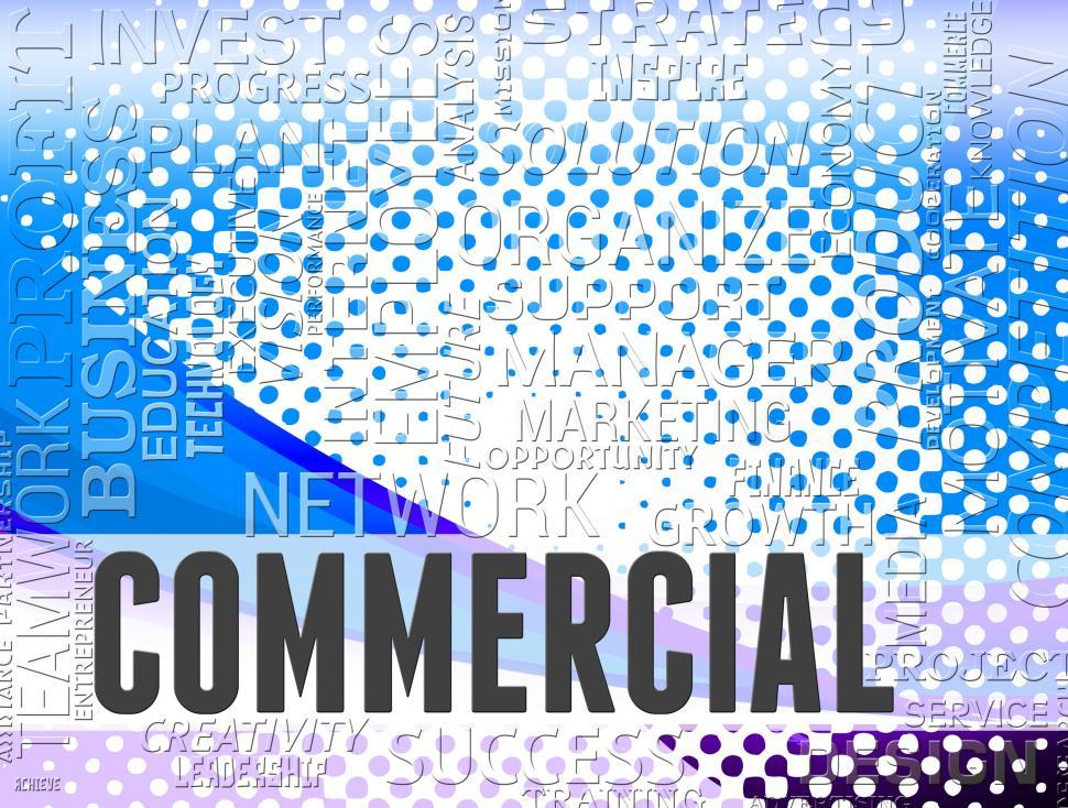 Download Free Stock HD Photo of Commercial Words Represent Business Purchases And Trading Online