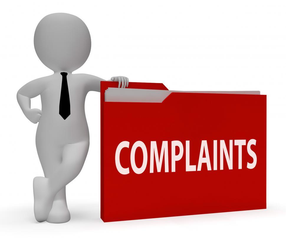 Download Free Stock HD Photo of Complaints Folder Shows Frustrated Administration And Criticism  Online