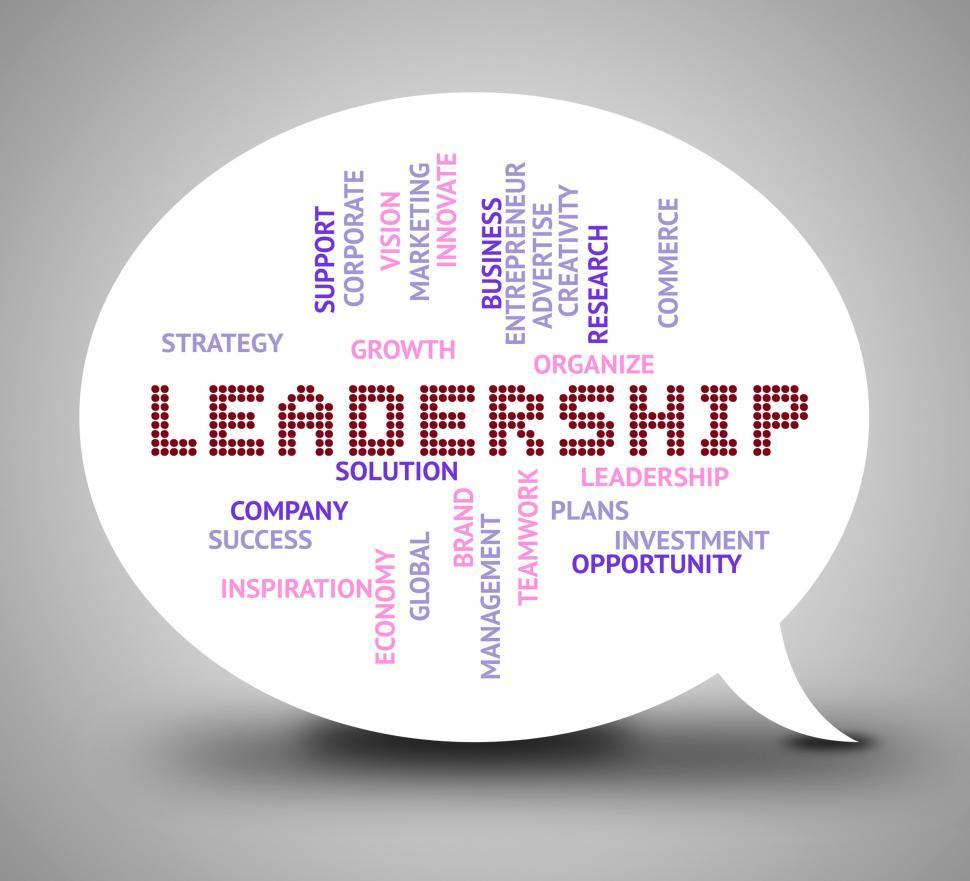 Download Free Stock HD Photo of Leadership Bubble Shows Command Authority And Management Online