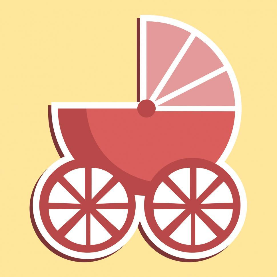 Download Free Stock HD Photo of Pram Icon Indicates Parenting Buggy And Perambulator Online