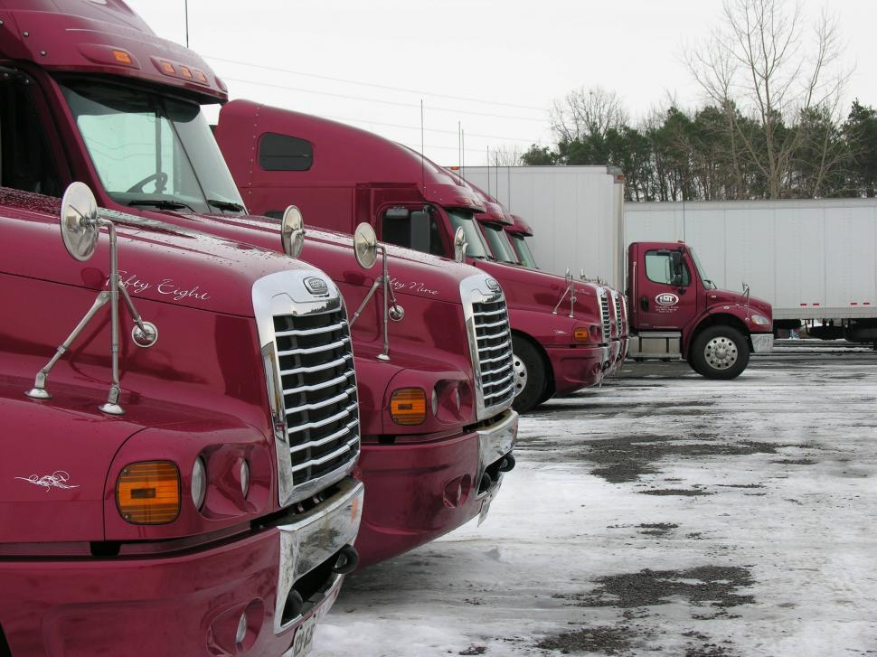 Download Free Stock HD Photo of Red Freightliner trucks Online