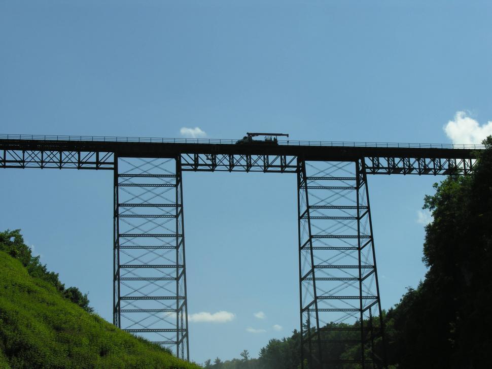Download Free Stock HD Photo of Truck on a train bridge Online