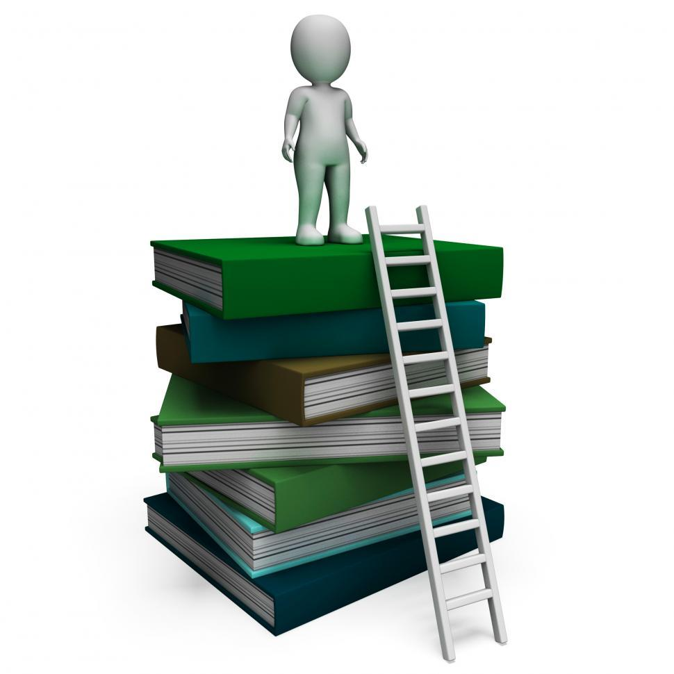 Download Free Stock HD Photo of Student On Books Shows Educated Online