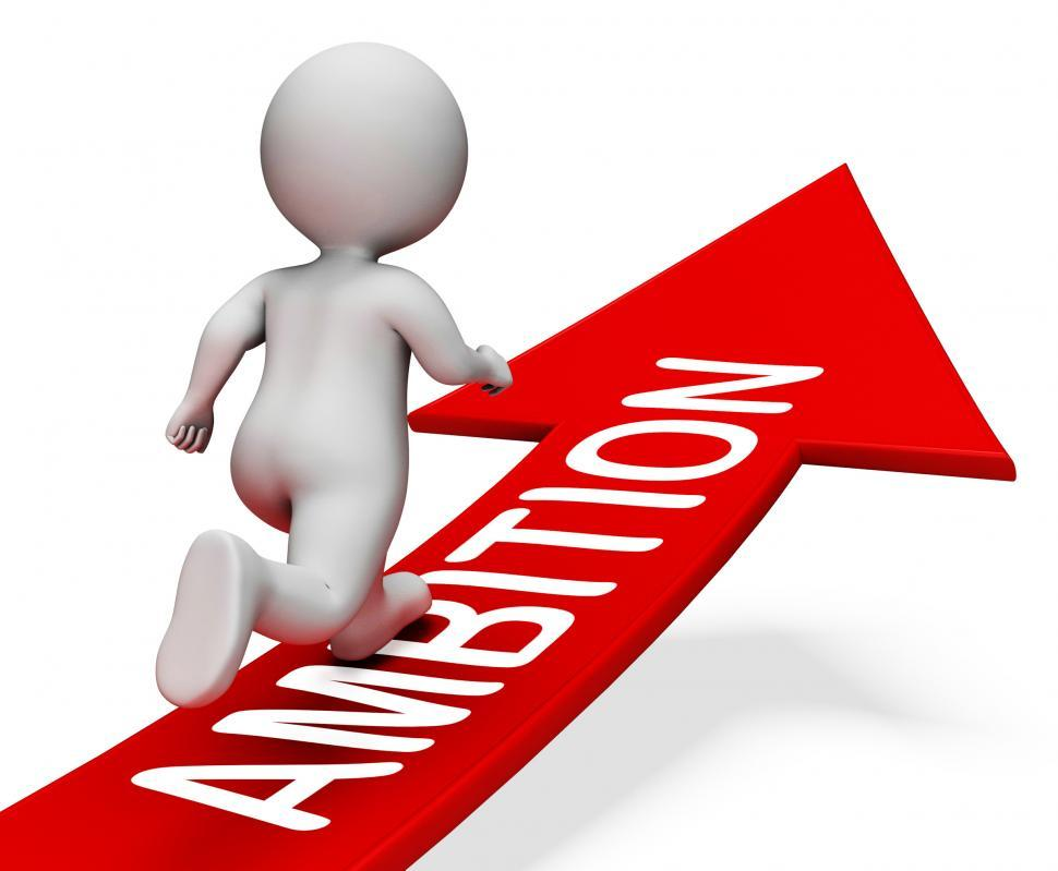 Download Free Stock HD Photo of Ambition Arrow Represents Wish Person And Male 3d Rendering Online