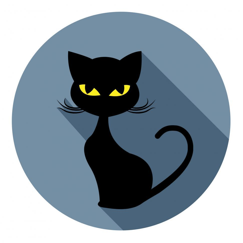 Download Free Stock HD Photo of Halloween Cat Icon Indicates Trick Or Treat And Animal Online