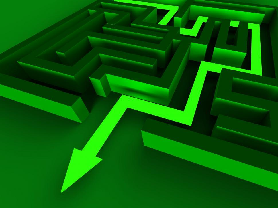 Download Free Stock HD Photo of Exit Maze Showing Puzzle Way Out Online
