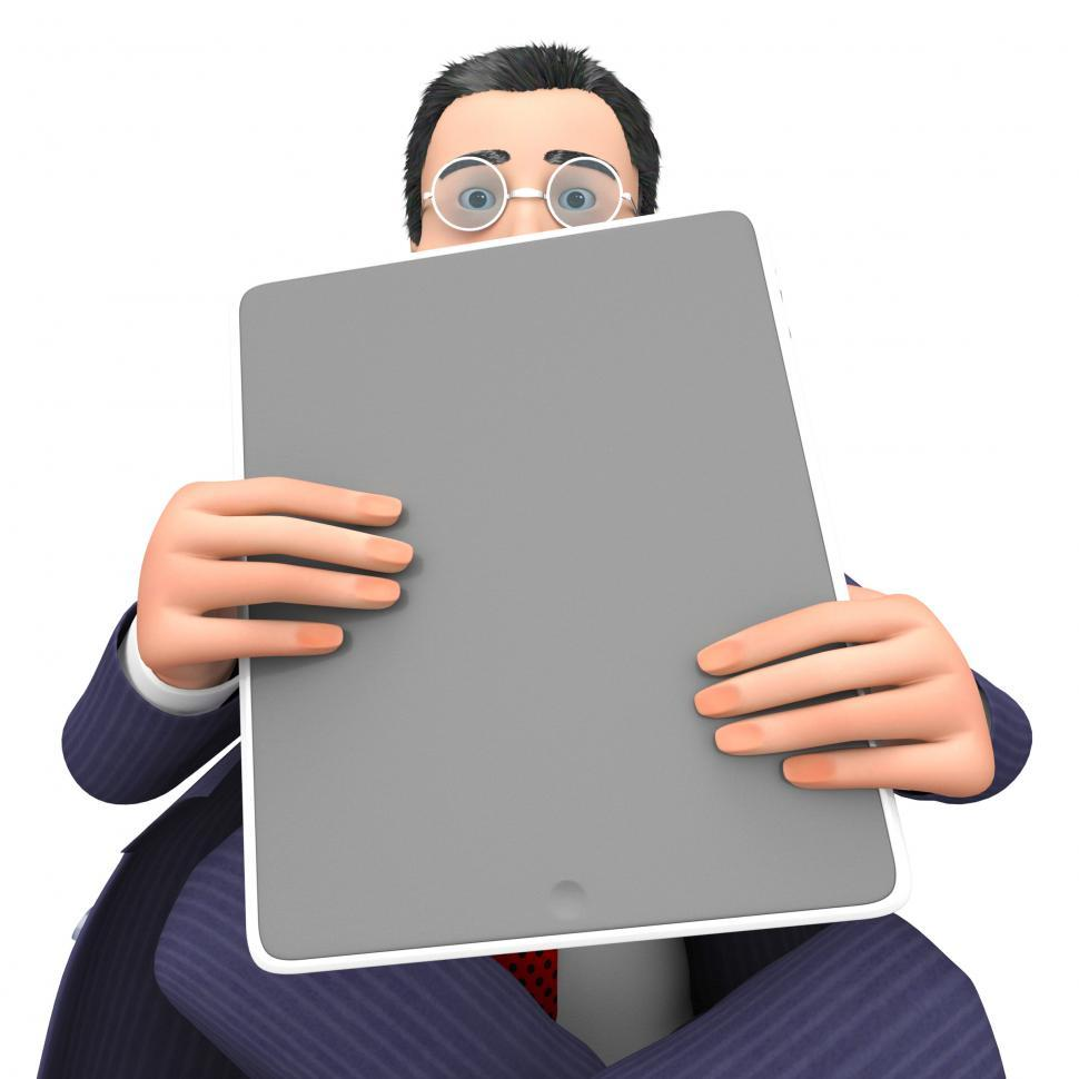 Download Free Stock HD Photo of Character Businessman Shows World Wide Web And Computing 3d Rend Online