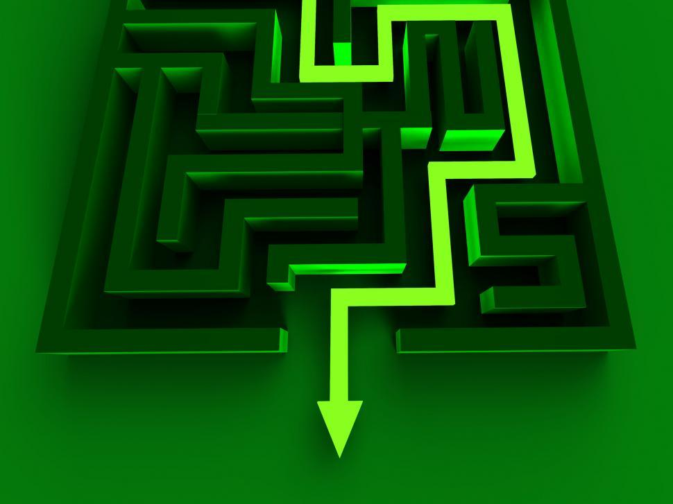 Download Free Stock HD Photo of Solving Maze Shows Puzzle Way Out Online