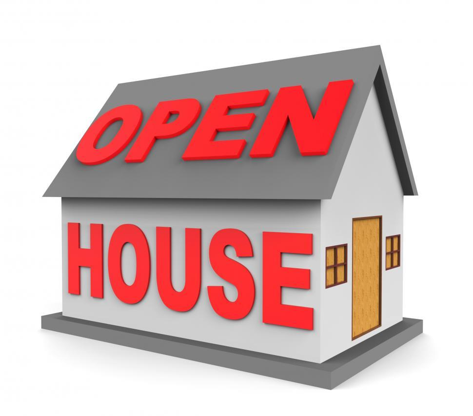 Download Free Stock HD Photo of Open House Represents Rental Realtor And Sale 3d Rendering Online