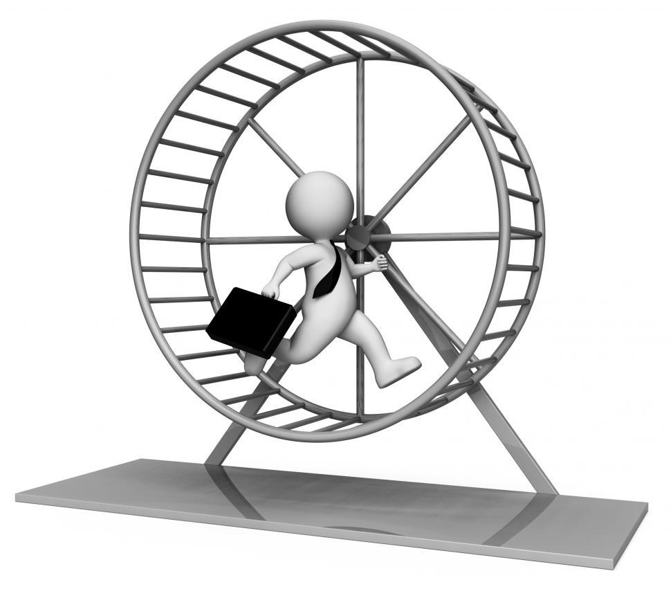 Download Free Stock HD Photo of Hamster Wheel Shows Mind Numbing And Boring 3d Rendering Online