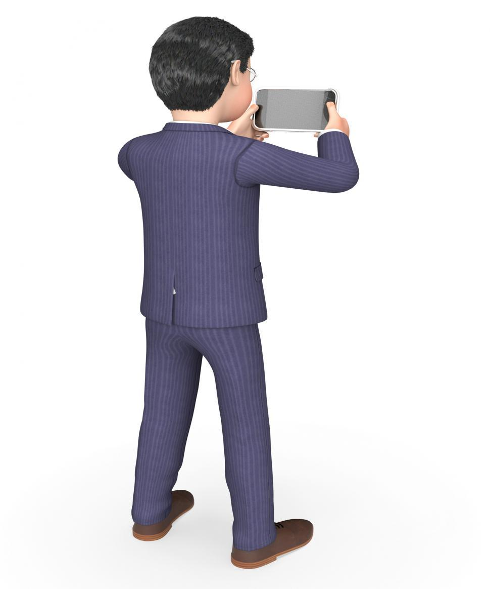 Download Free Stock HD Photo of Photo Businessman Indicates Photograph Picture And Executive 3d  Online
