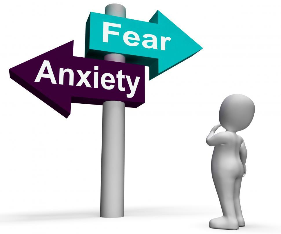 Download Free Stock HD Photo of Fear Anxiety Signpost Shows Fears And Panic Online