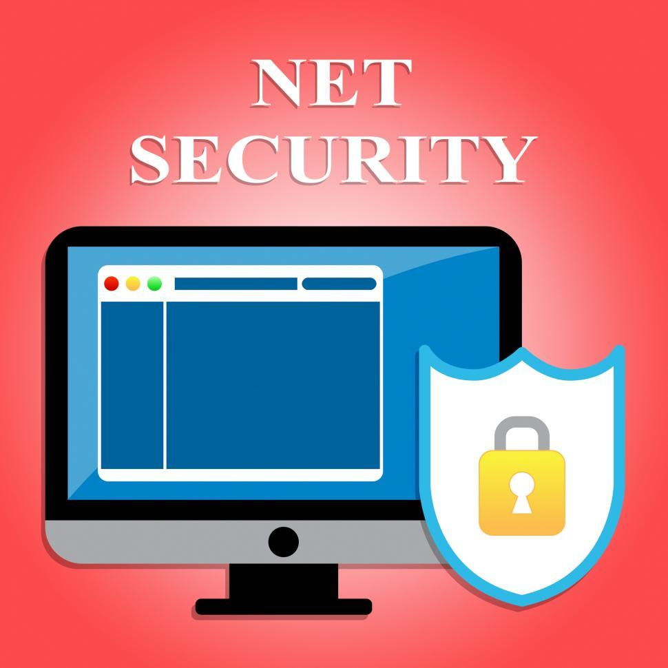 Download Free Stock HD Photo of Net Security Shows Protected Web Site And Communication Online