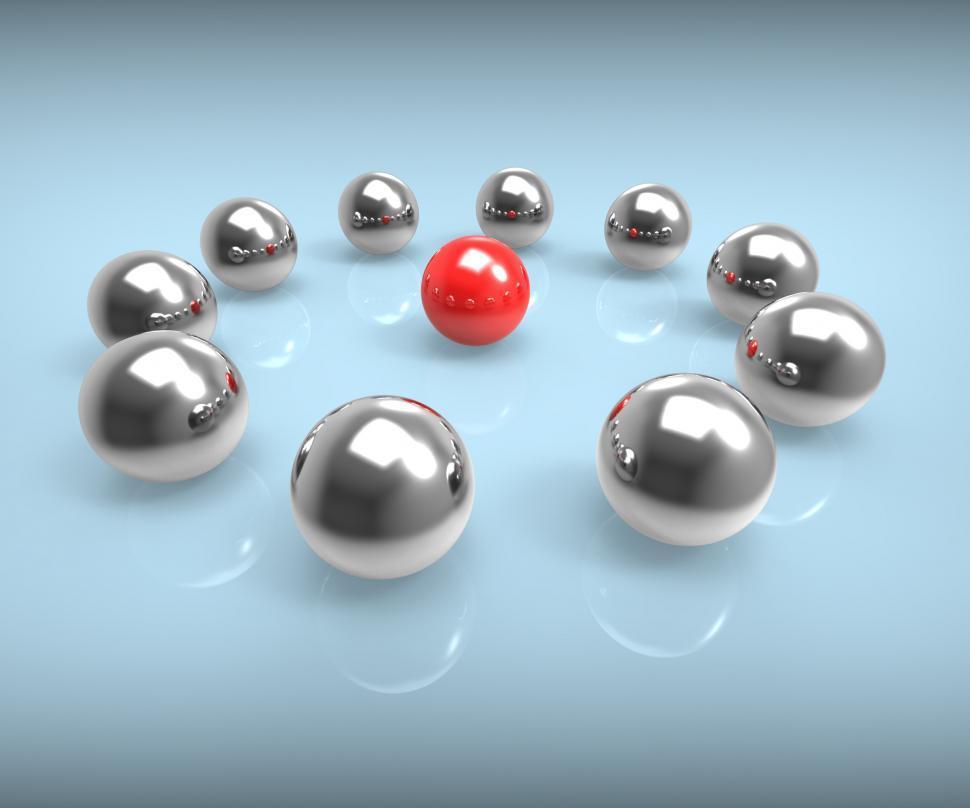 Download Free Stock HD Photo of Metal Spheres Show Leadership Or Seminar Online