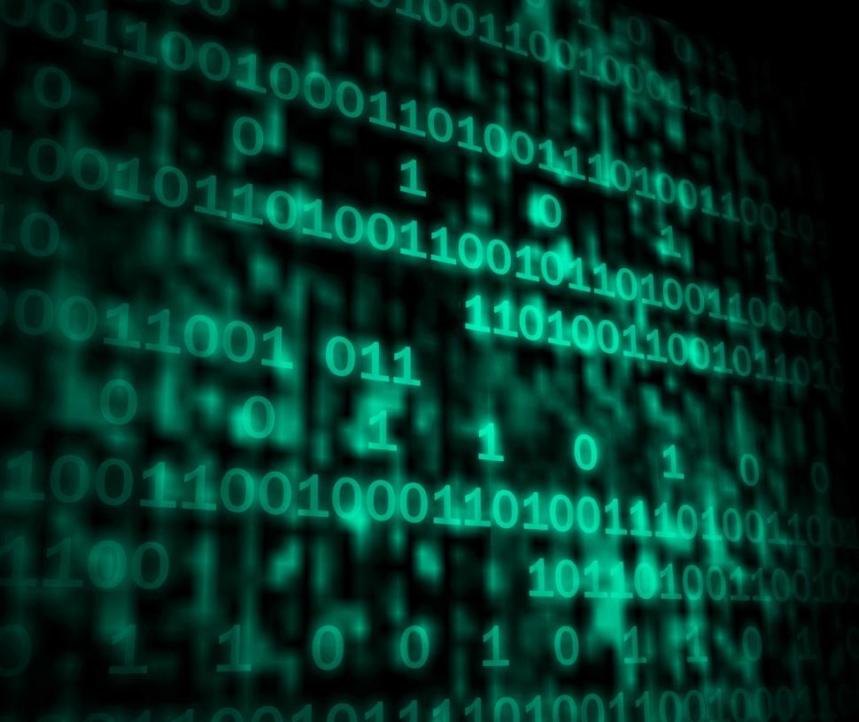 Download Free Stock HD Photo of Matrix Code Copyspace Shows Digital Numbers Programming Backgrou Online