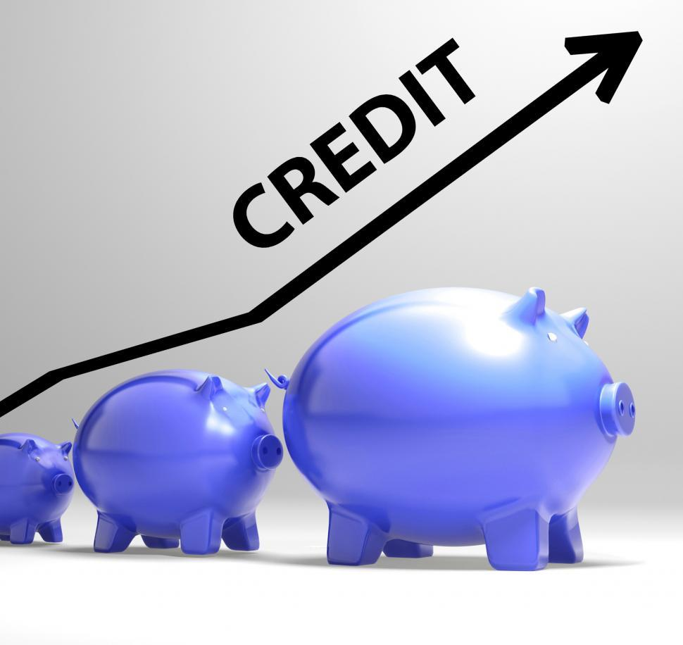 Download Free Stock HD Photo of Credit Arrow Means Lending Debt And Repayments Online