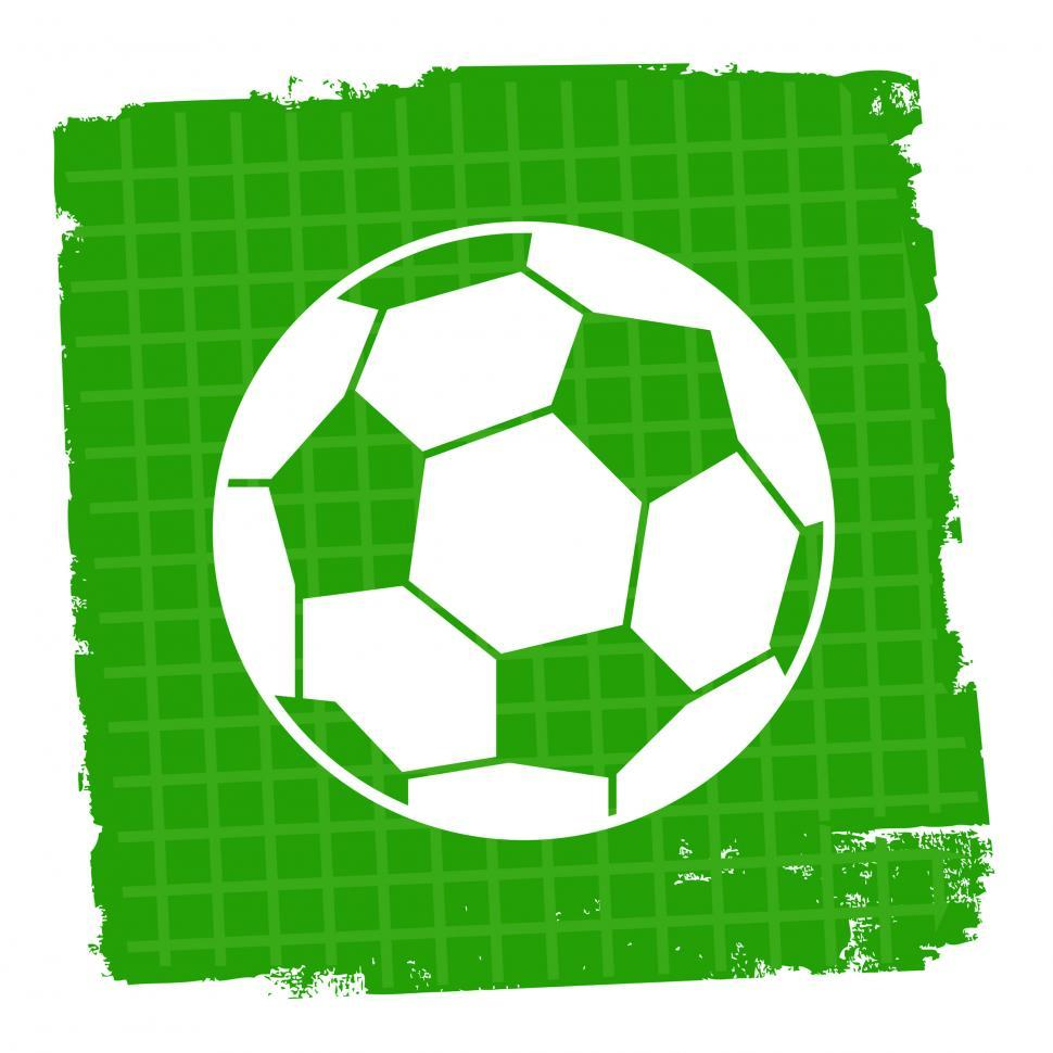 Download Free Stock HD Photo of Football Icon Means Player Soccer And Symbol Online