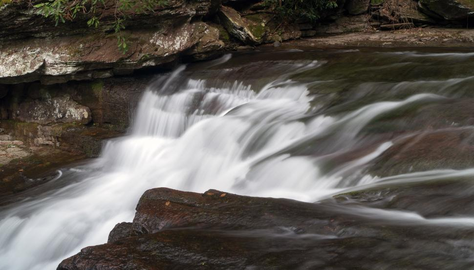 Download Free Stock HD Photo of Running waterfall at Van Campens Glen  Online
