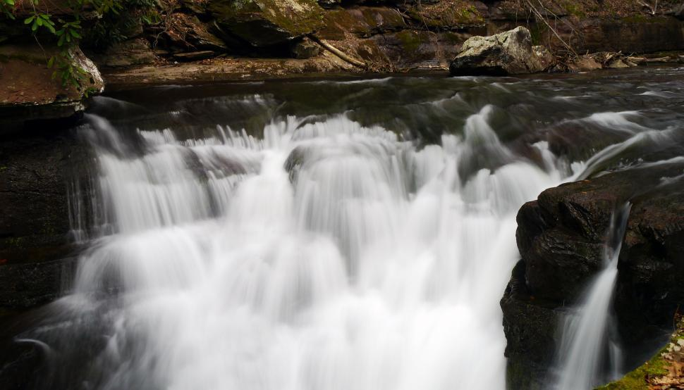 Download Free Stock HD Photo of Tiered Van Campens Glen Waterfall Online