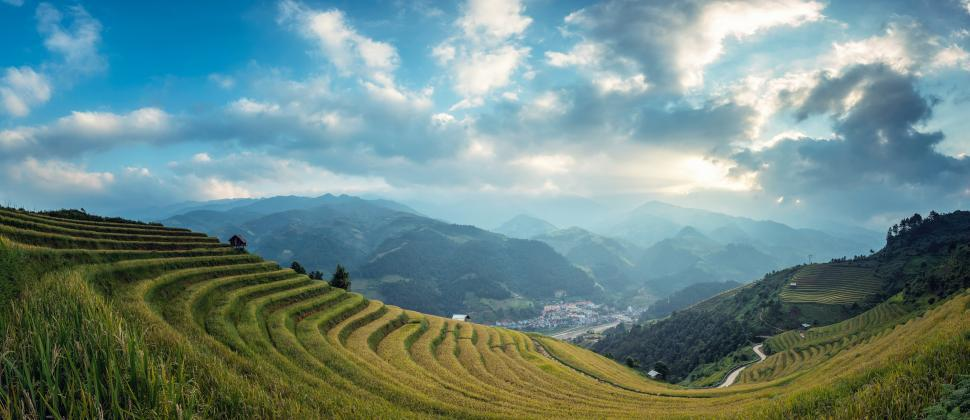 Download Free Stock HD Photo of Mountainous Agricultural Region Online