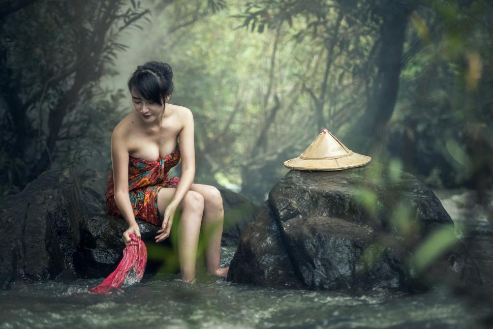 Download Free Stock HD Photo of Asian Beauty Bathing Online
