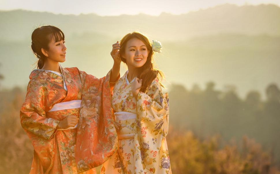 Download Free Stock HD Photo of Two Asian Beauties Online