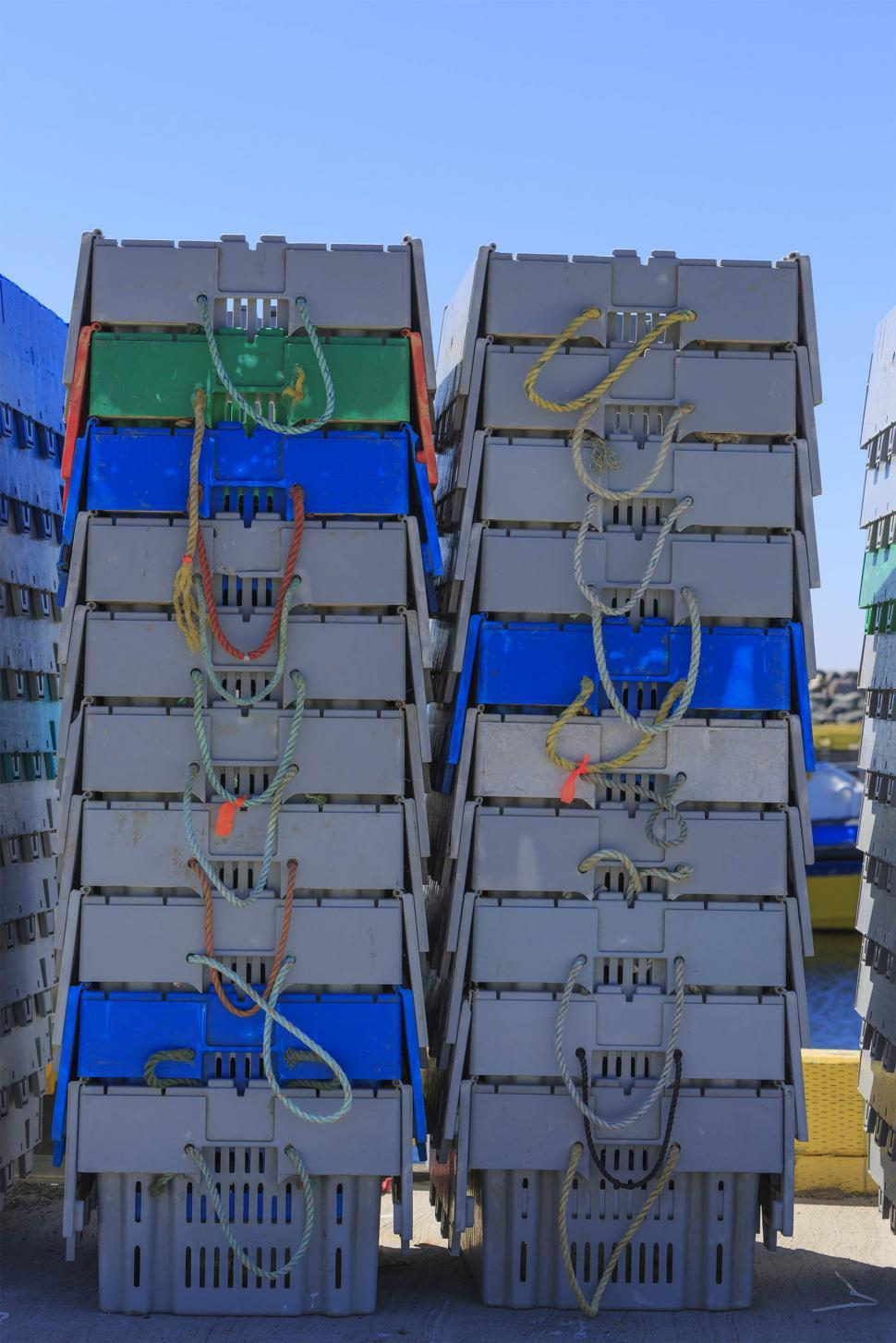 Download Free Stock HD Photo of Lobster storage boxes Online