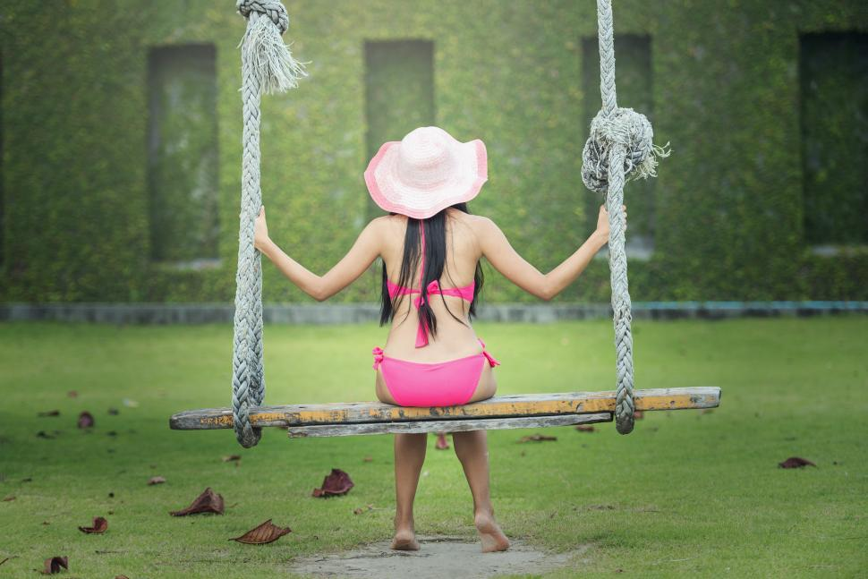 Download Free Stock HD Photo of Girl on the Swing Online