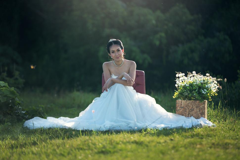 Download Free Stock HD Photo of Girl in Bridal Dress Online
