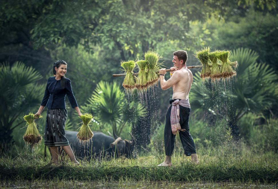 Download Free Stock HD Photo of Tourists Enjoying in the Field Online