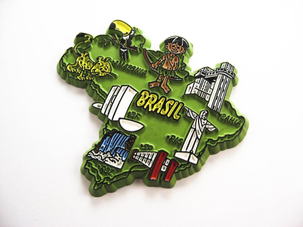 Download Free Stock HD Photo of brasil magnet souvenir Online