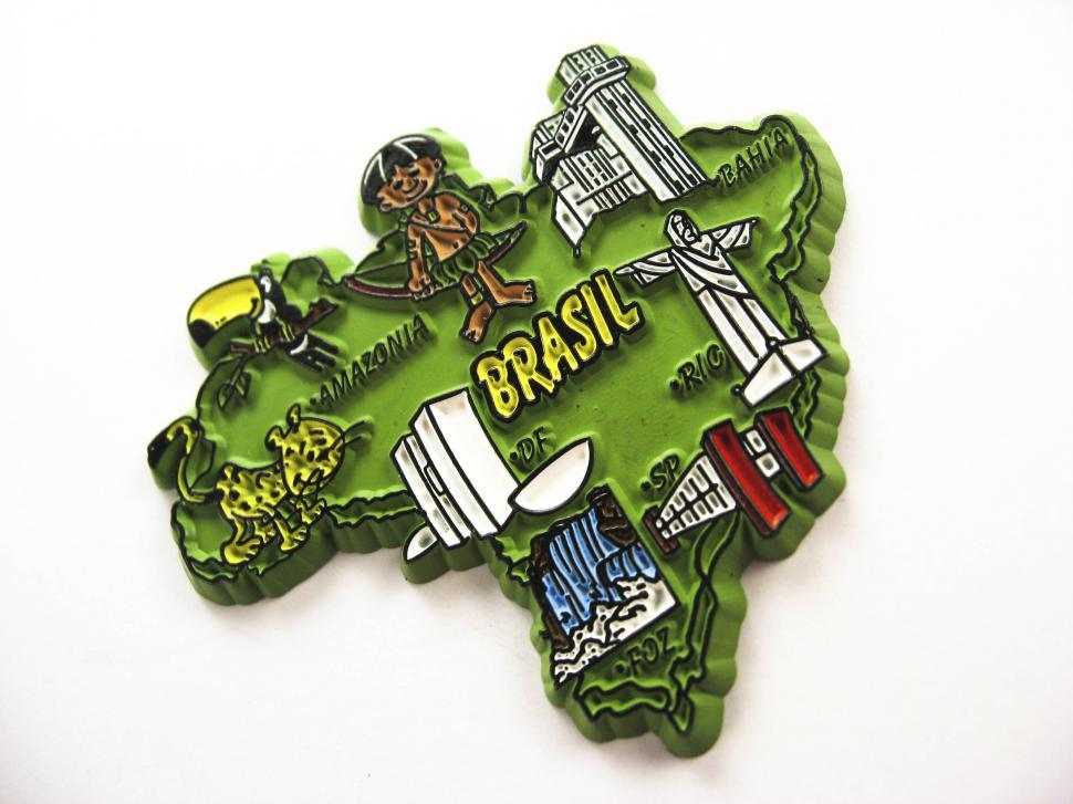 Download Free Stock HD Photo of brasil magnet souvenir Online