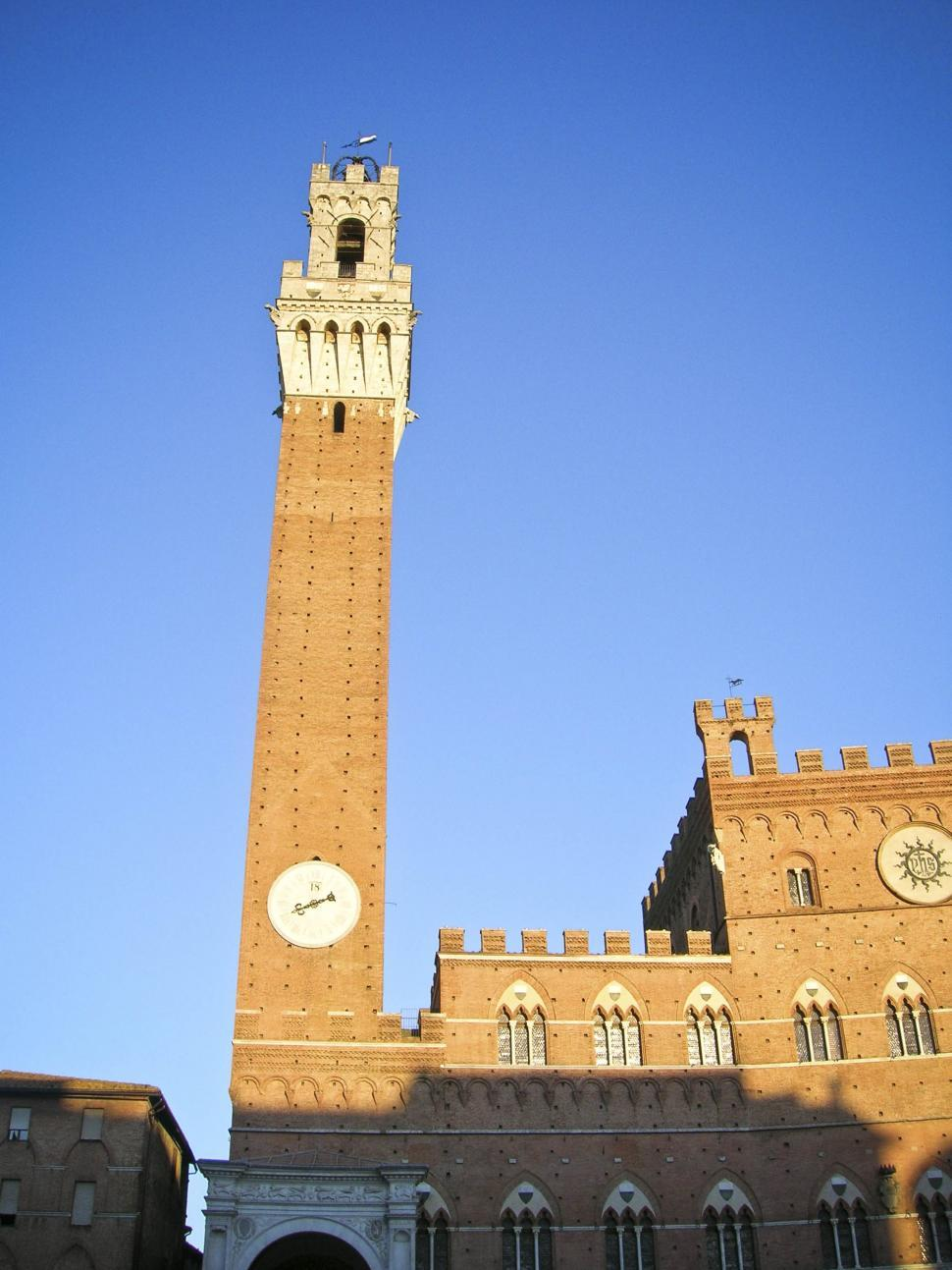 Download Free Stock HD Photo of Clock tower in Siena, Italy Online