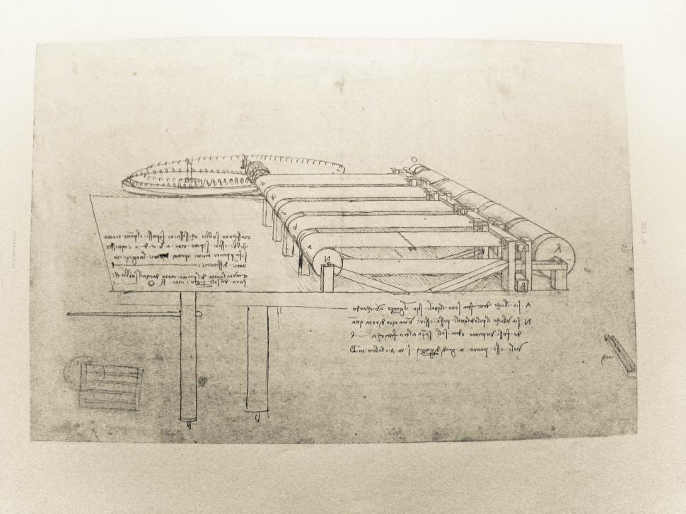 Download Free Stock HD Photo of Leonardo da Vinci notebook page Online