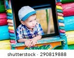 cute toddler boy playing on the ...