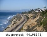 the railway along the coast of...
