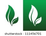 leaf pair icon vector...